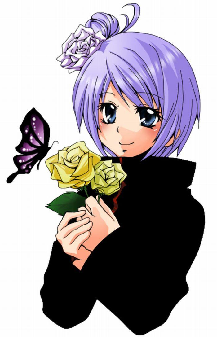 Девушка аниме из наруто