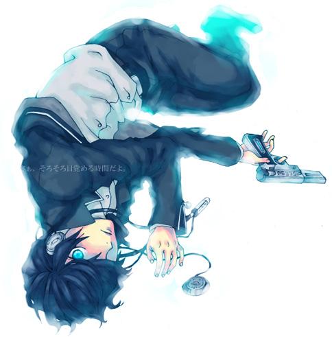 парень с пистолетом картинки аниме