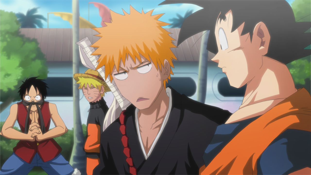 персонажи из naruto one piece bleach dragonball